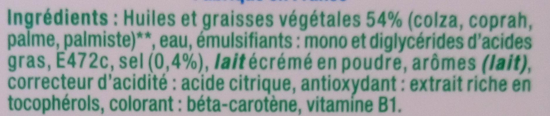 Tartine Doux - Ingredients - fr