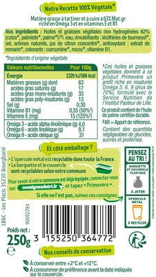 Primevère Tartine & Cuisson - Ingrédients - fr