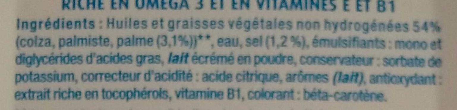 Tartine demi-sel 100% végétal - Ingredienti - fr