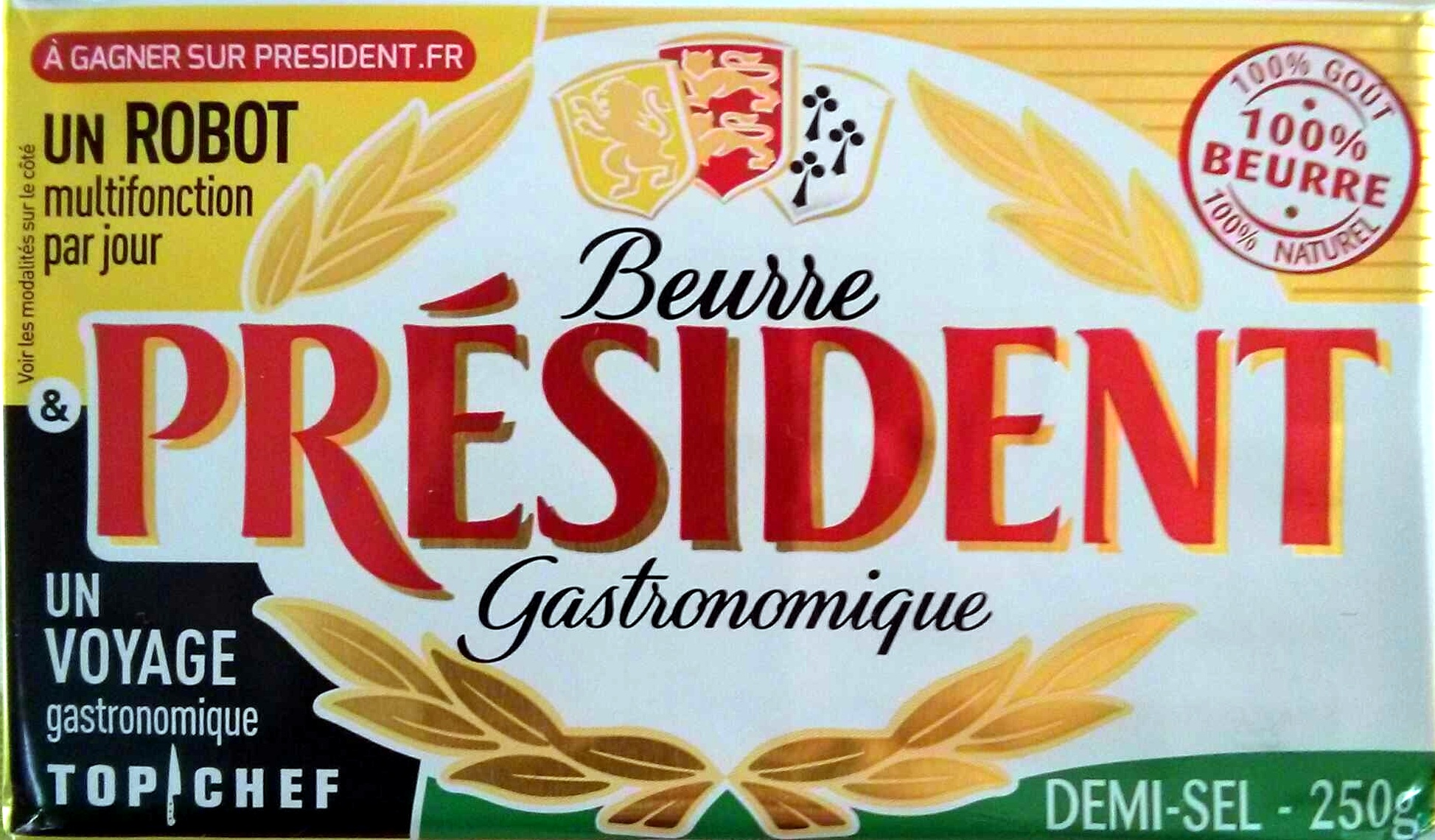 Beurre gastronomique président - Produit - fr