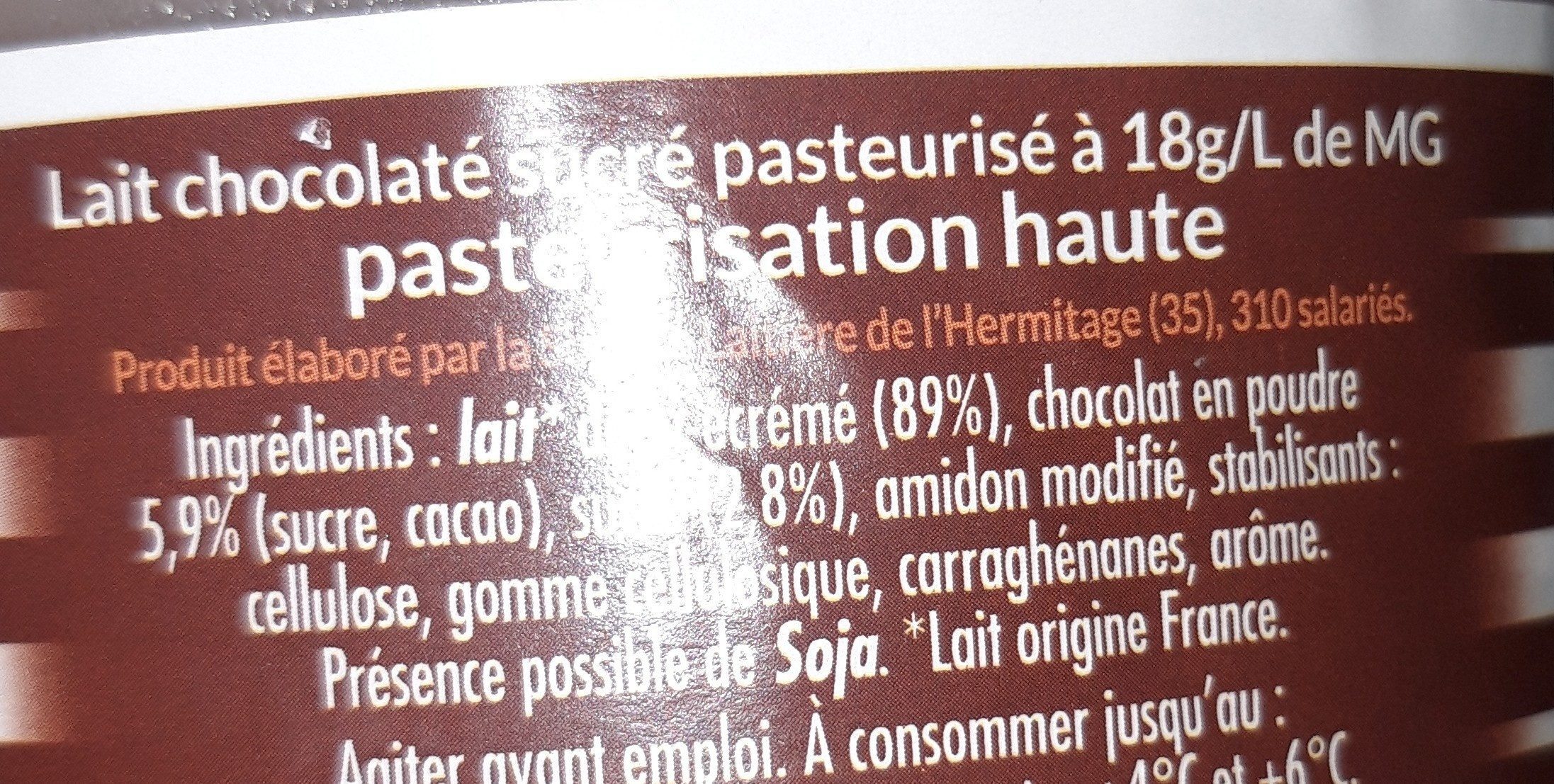 Lait au Chocolat - Ingrédients - fr