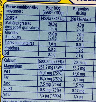 Nesquik Tartine - Informations nutritionnelles - fr