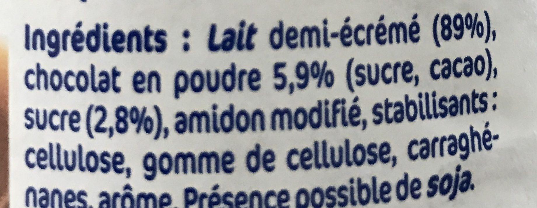 Lait chocolat - Ingrediënten