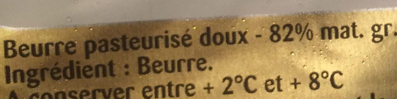 Beurre président - Ingredients - fr