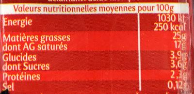 Secret de Crème semi-épaisse - Informations nutritionnelles - fr