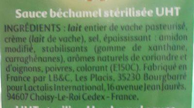 Béchamel - Ingredients