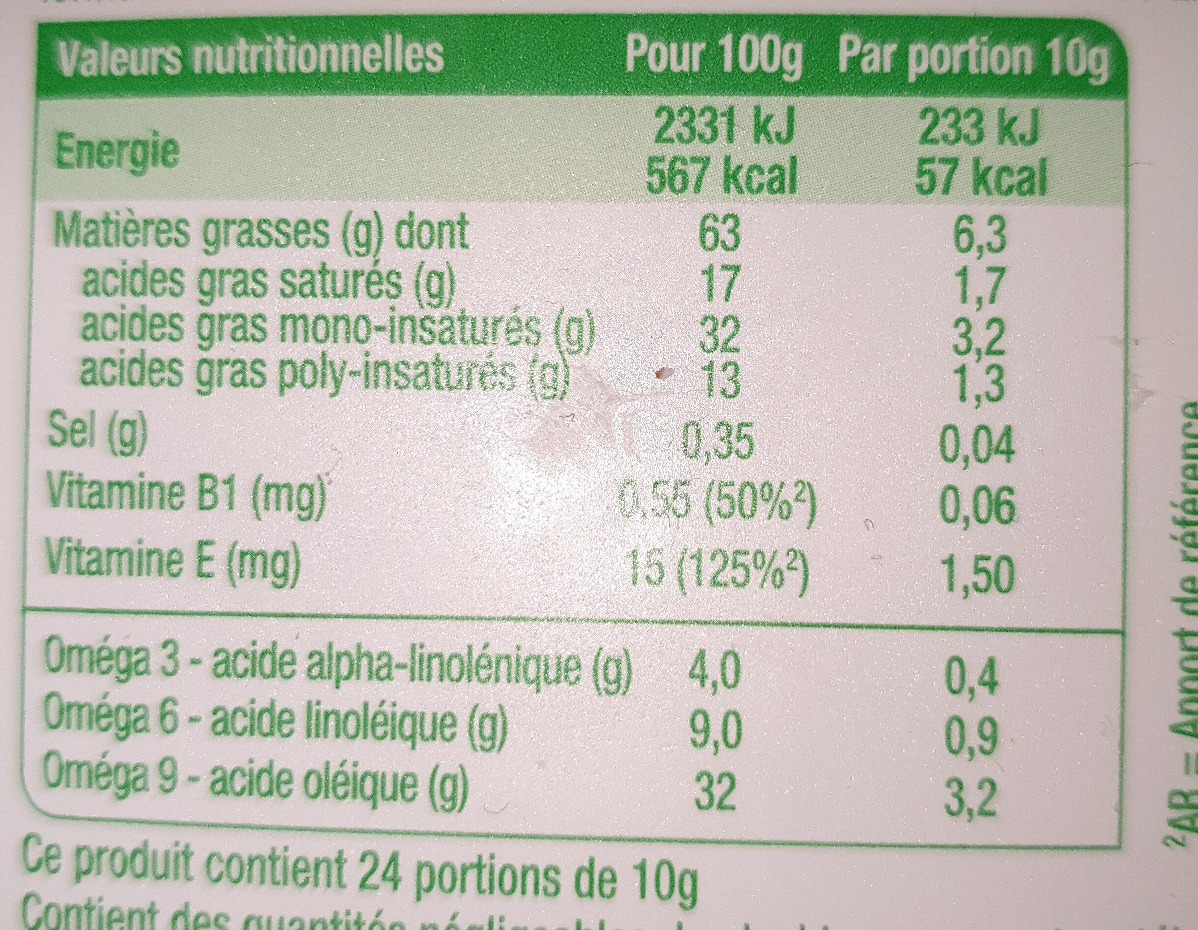 Primevère Sans huile de palme - Informations nutritionnelles - fr
