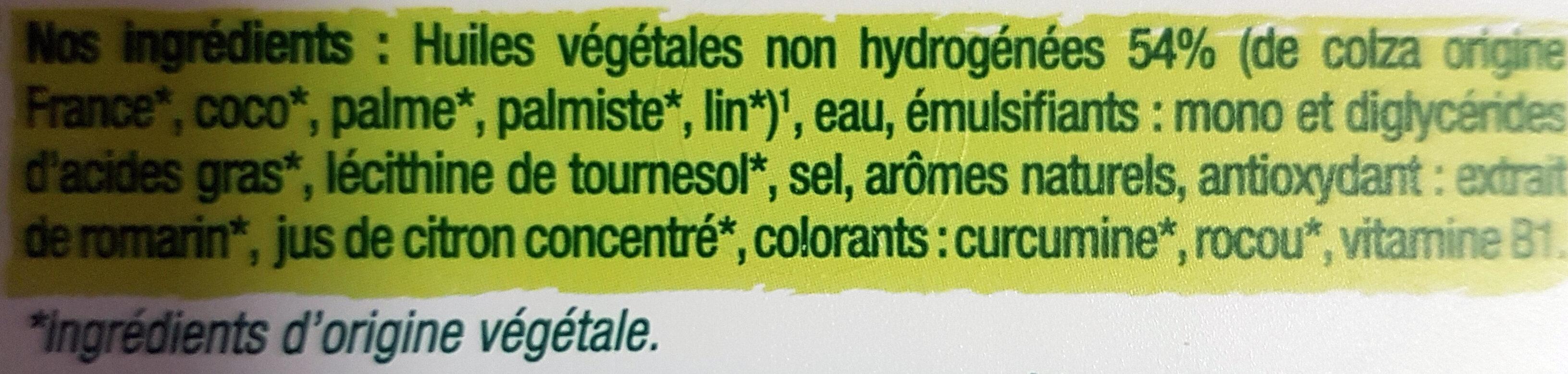 Primevère Tartine doux végétal - Ingredients - fr