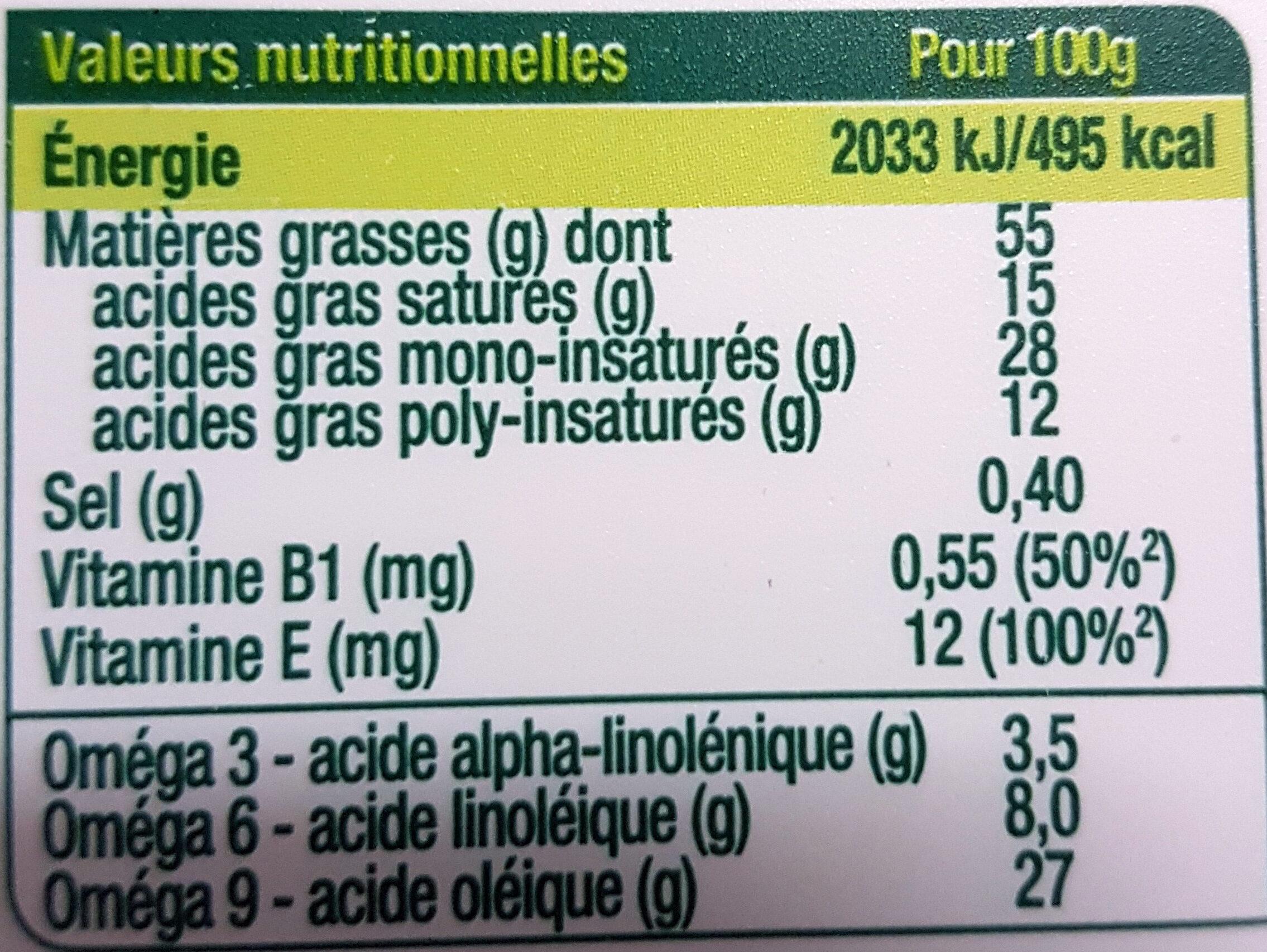 Primevère Tartine doux végétal - Nutrition facts - fr