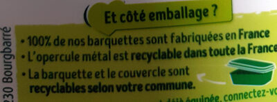 Primevère Tartine doux végétal - Recycling instructions and/or packaging information