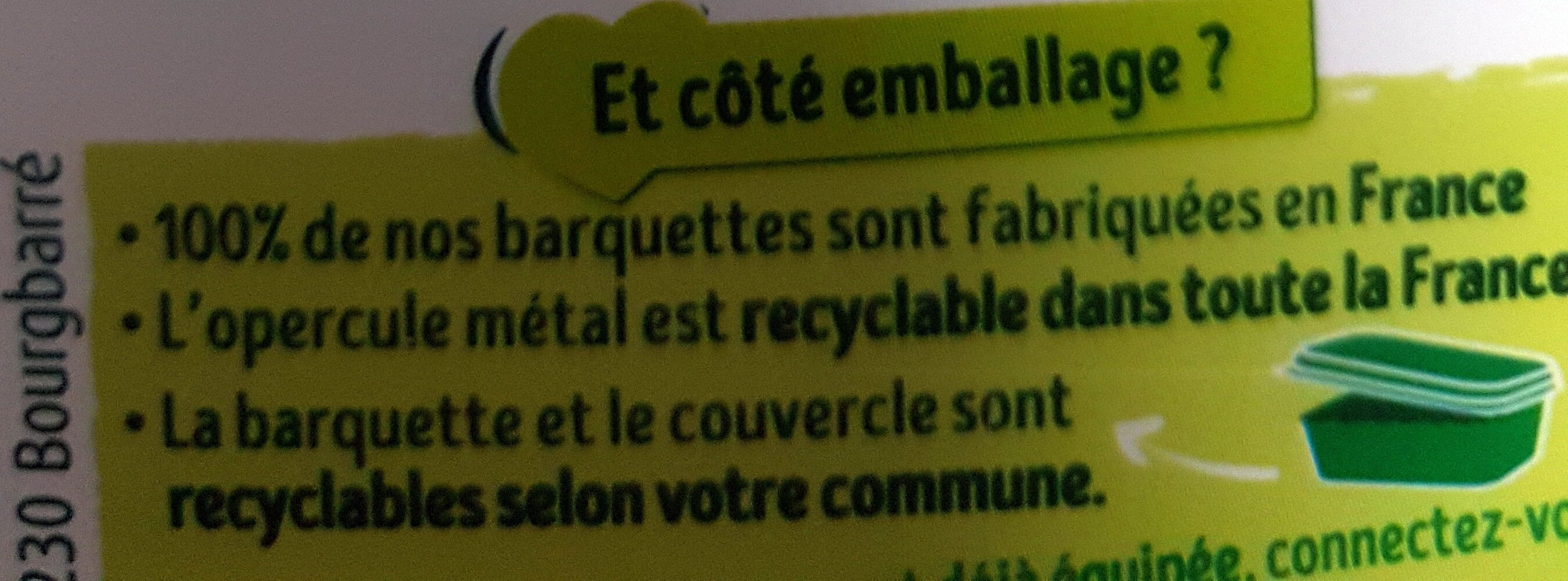 Primevère Tartine doux végétal - Recyclinginstructies en / of verpakkingsinformatie - fr