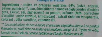 Margarine tartine doux - Ingrédients