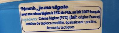 Crème fraîche - Ingrédients - fr