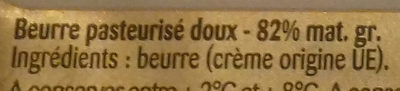 Beurre doux gastronomique - Ingredients - fr