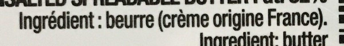 Beurre Tendre Doux - Ingredientes - fr