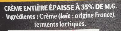 Extra épaisse gourmande et nappante - Ingrédients - fr