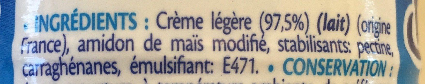 Crème légère - Ingrediënten
