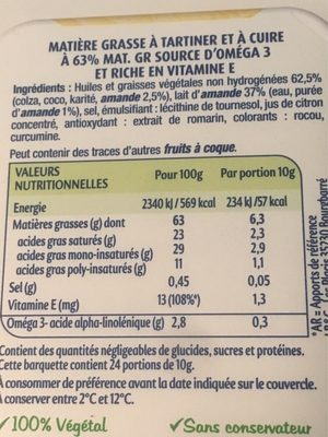 Envie de Végétal - Ingrédients - fr