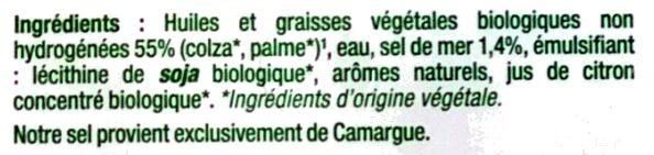Primevère bio - Ingrédients - fr