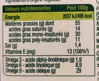 Primevère bio - Informations nutritionnelles - fr
