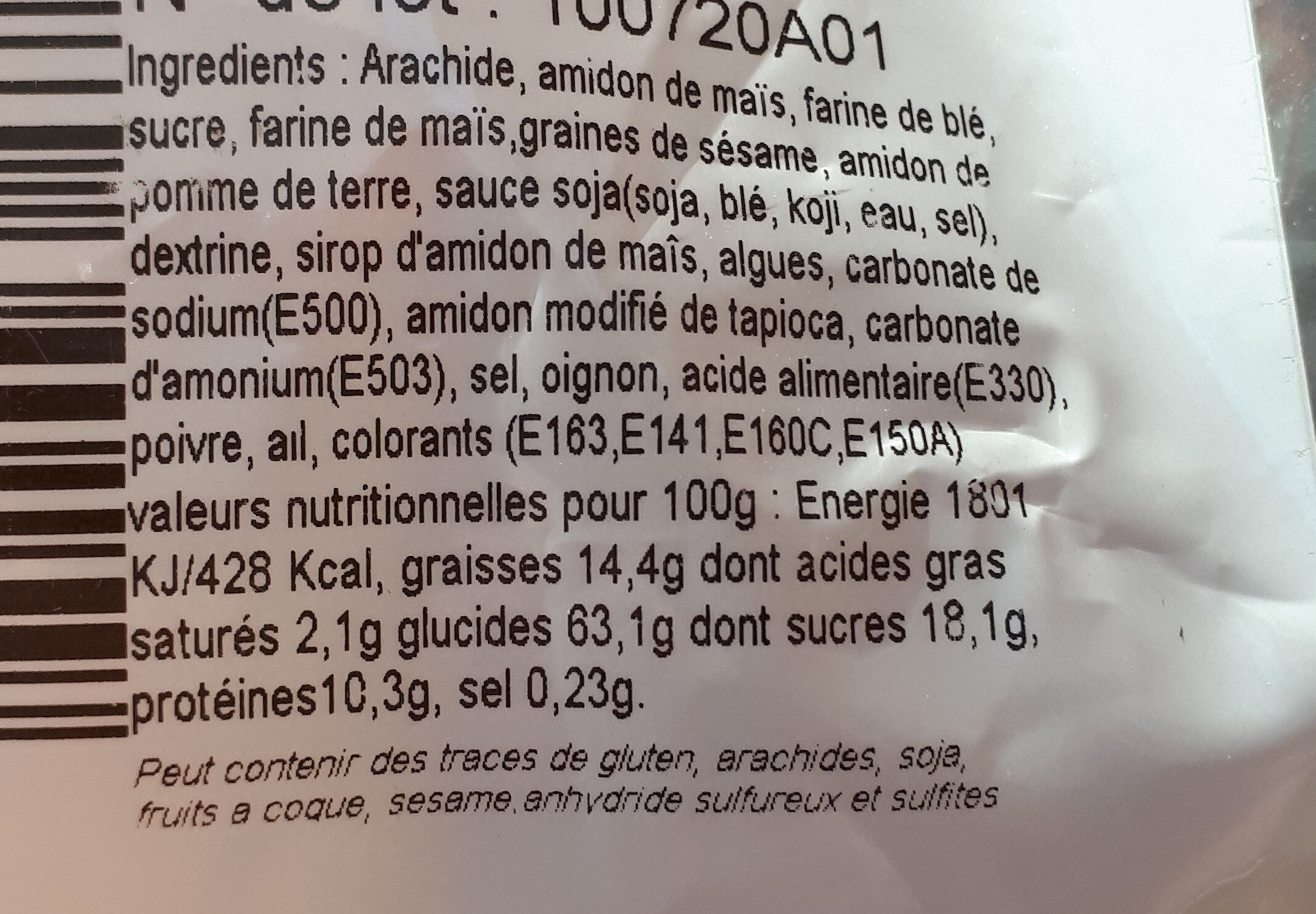 Mélange Ajino Tahori - Les Fruits Secs - Ingredients - fr