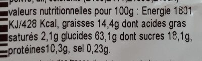 Mélange Ajino Tahori - Les Fruits Secs - Nutrition facts - fr