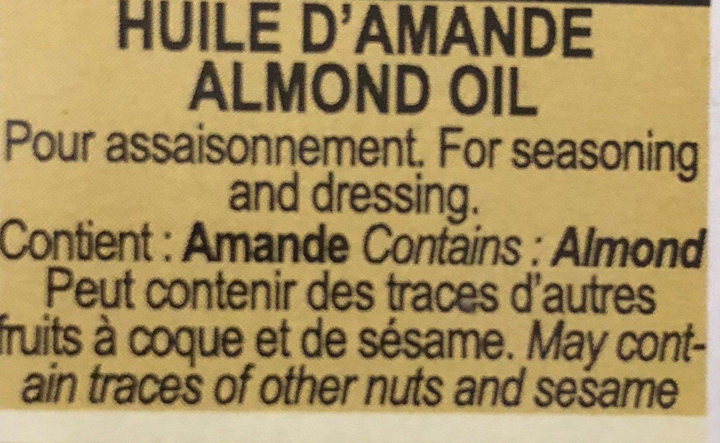 Huile d'amande - Ingredients - fr