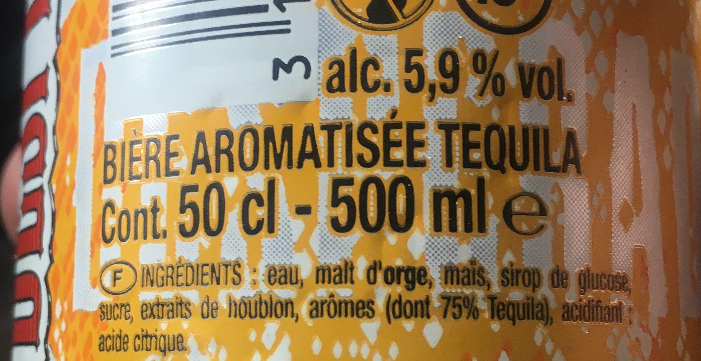 Bière aromatisée Tequila - Ingrediënten - fr