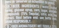 Bière - Tequila - Ingredients