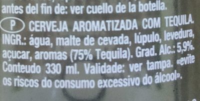 Bière - Tequila - Ingredients
