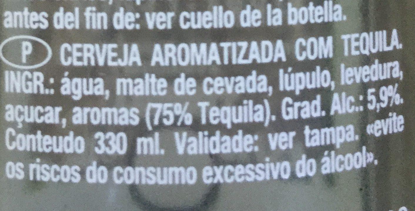 Bière - Tequila - Ingredientes