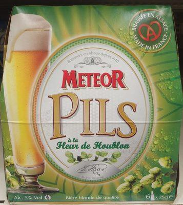Biere blonde Meteor Pils pakc 6x25cl Brasserie Meteor - Produit - fr