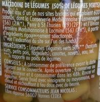 Macédoine de légumes - Ingrédients
