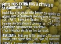 Petits Pois Extra Fins - Ingrédients