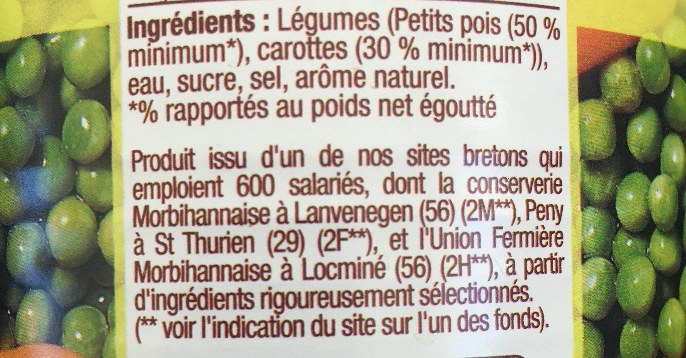 Petits Pois Carottes Extra Fins - Ingrédients - fr