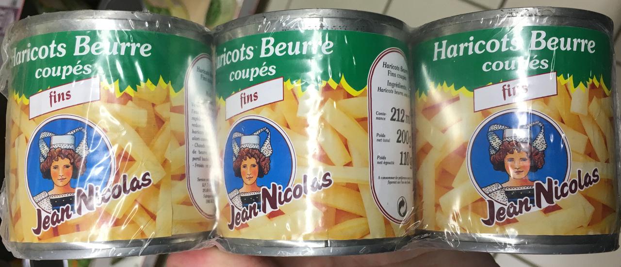 Haricots beurre coupés fins - Produit - fr