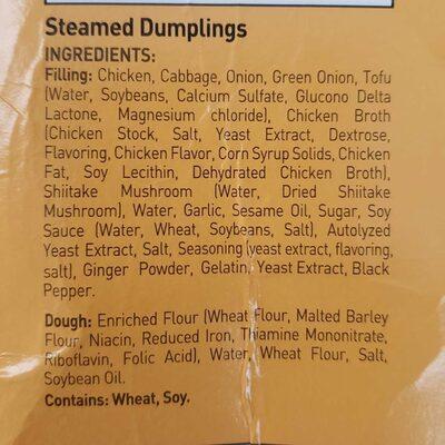 Steamed Dumplings - Ingrédients