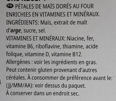 Céréales Corn Flakes Kellogg's Original - Ingredientes - fr