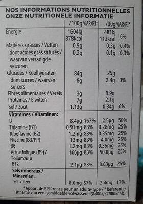Céréales Corn Flakes Kellogg's Original - Información nutricional - fr