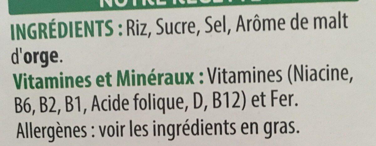 Rice Krispies - Ingrédients