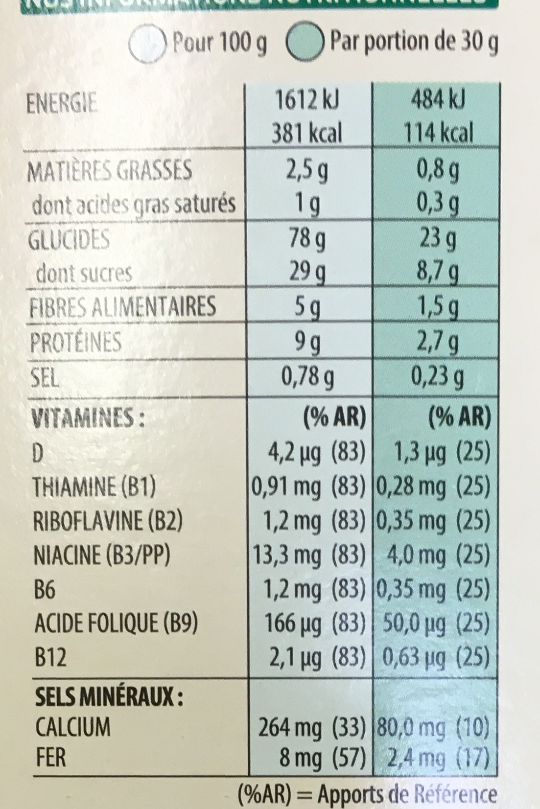 Coco Pops - Chocos - Nutrition facts - fr