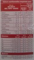 Miel Pops Cracks - Informations nutritionnelles