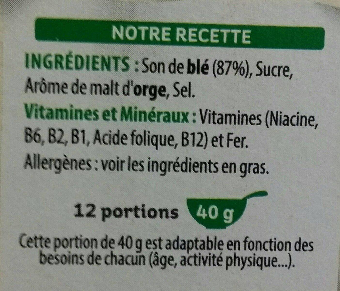 All-Bran Fibre Plus - Ingrediënten