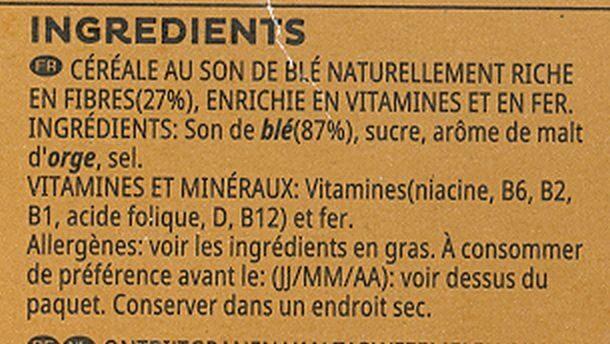 All-Bran Fibre Plus - Ingrediënten - fr