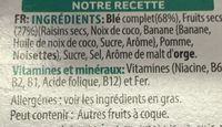All Bran Fruit'n Fibres - Ingredients