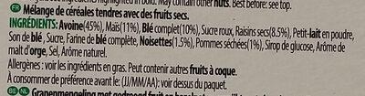 Céréales Country Store - Ingrédients - fr