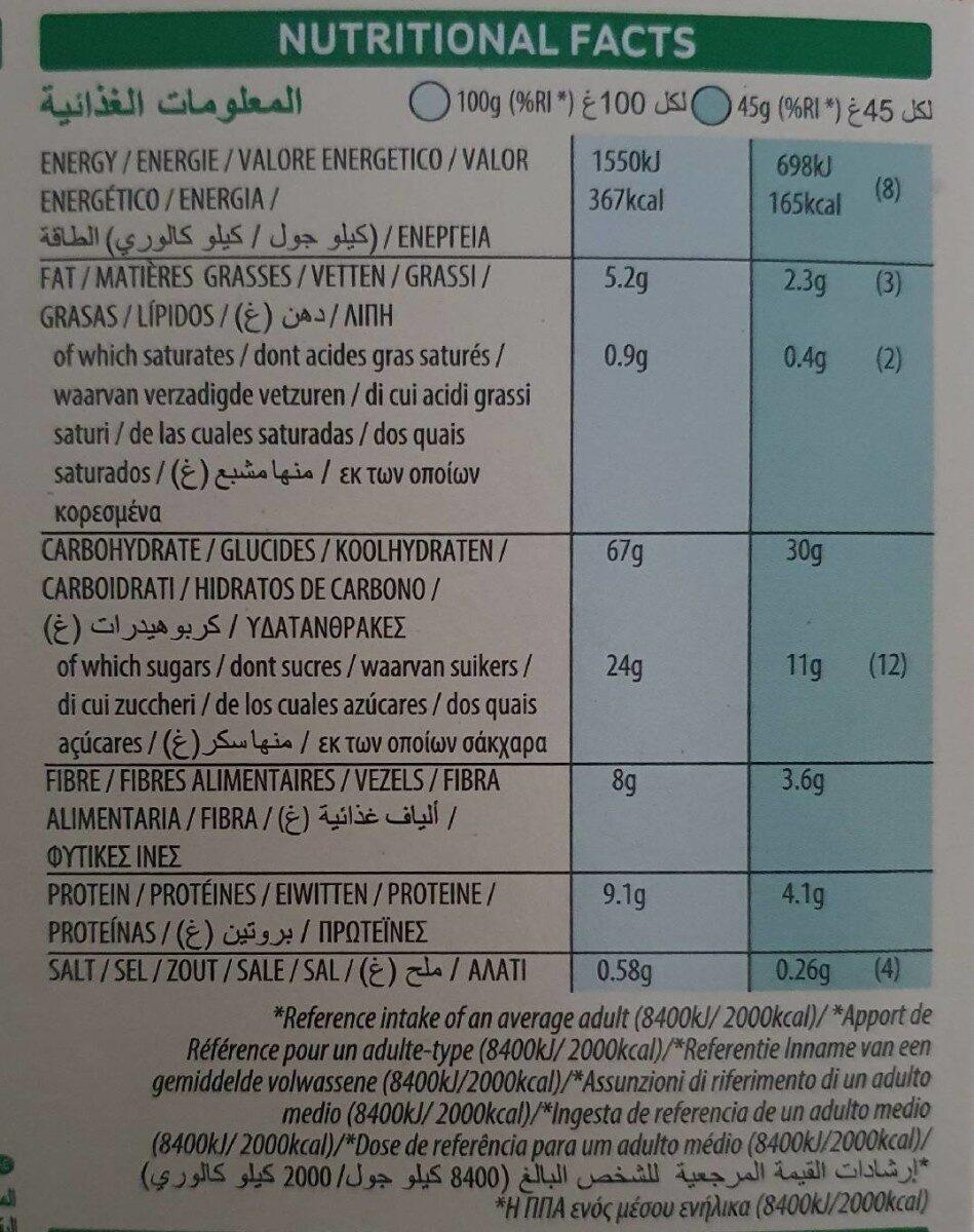 Céréales Country Store - Informations nutritionnelles - fr