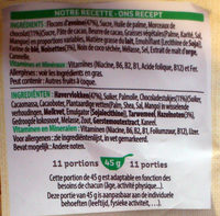 Extra ® Pépites (Morceaux de Chocolat Noir & Noisettes Grillées) - Ingredients