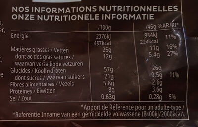 Kellogg's Extra - Informations nutritionnelles - fr