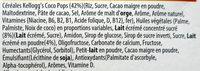Coco Pops Barre de Céréales - Ingredients